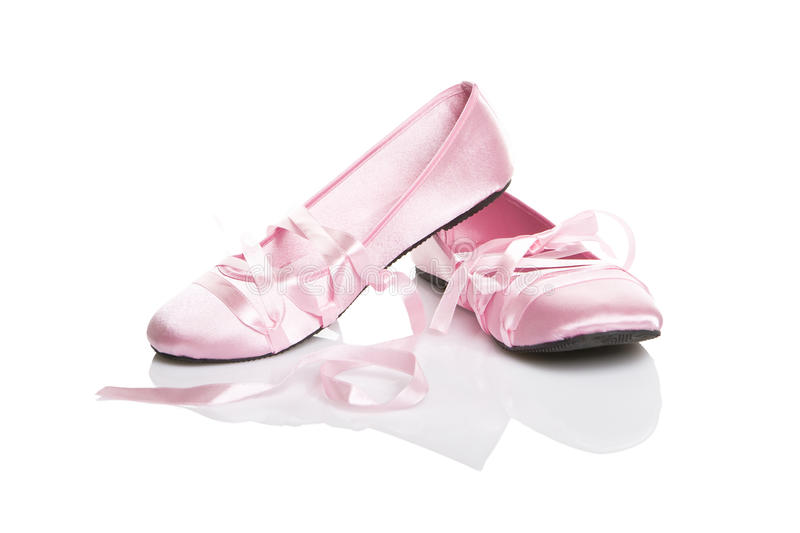 Pink ballet shoes royalty free stock images
