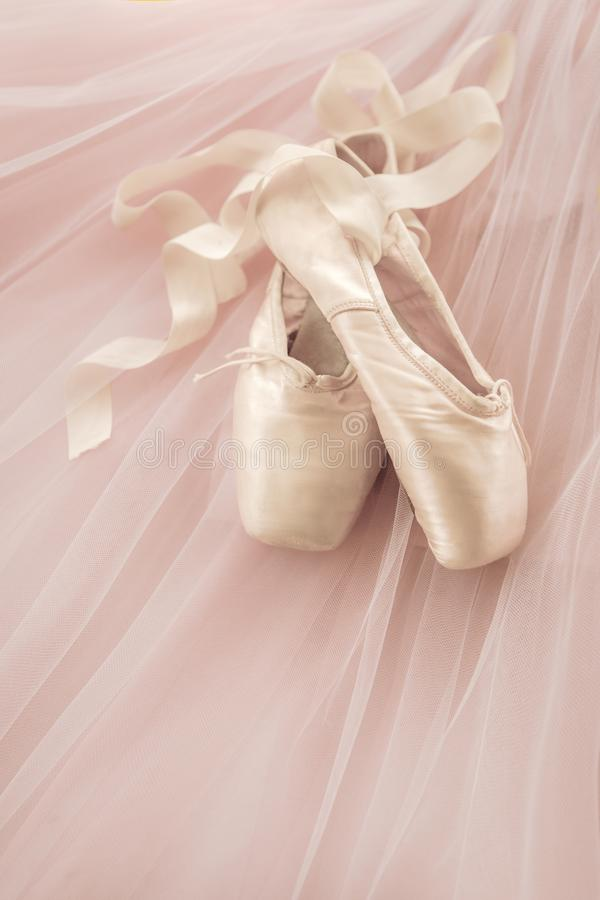 Pink Ballet Shoes royalty free stock photos
