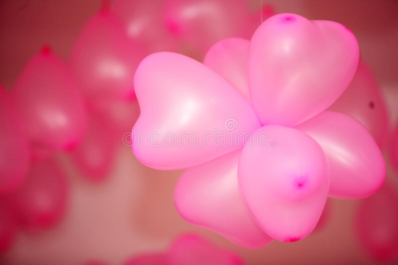 Download Pink balloon stock photo. Image of background, fuzzy - 12466880