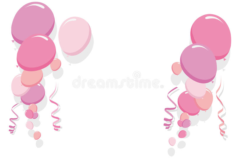 Download Pink Balloons Border Vector Stock Vector - Illustration of girl, balloon: 32470289