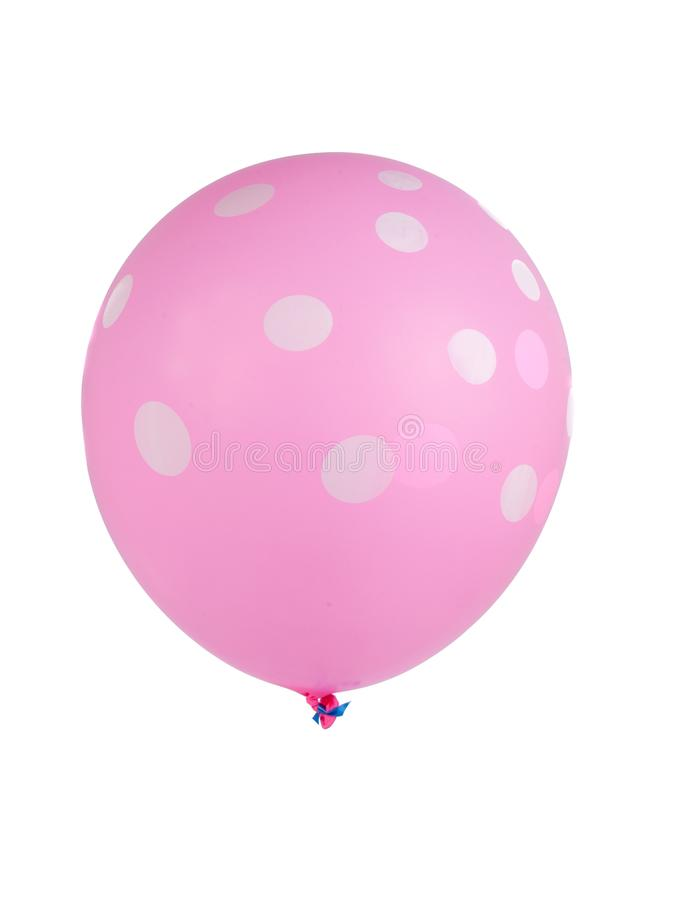 balloon with white dots isolated royalty free stock photography