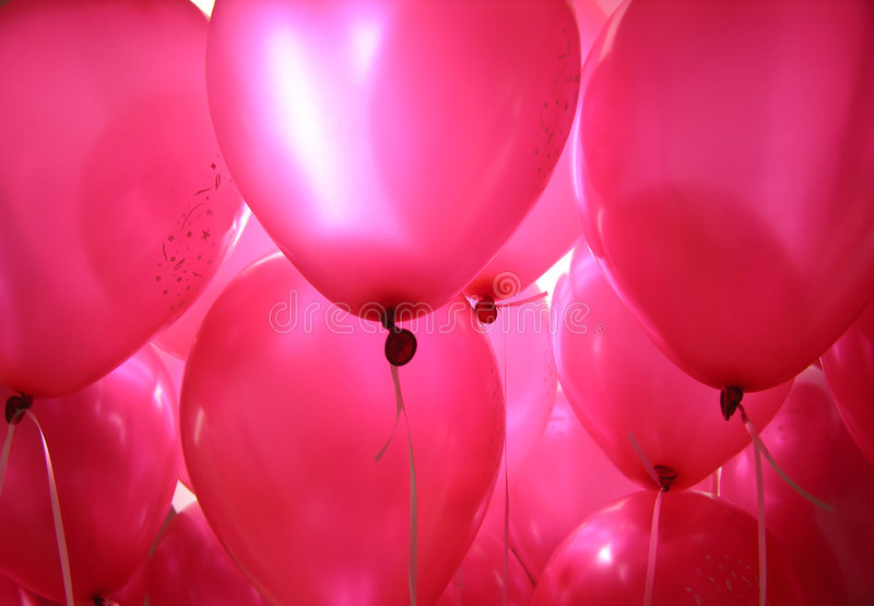 Pink Baloons stock image