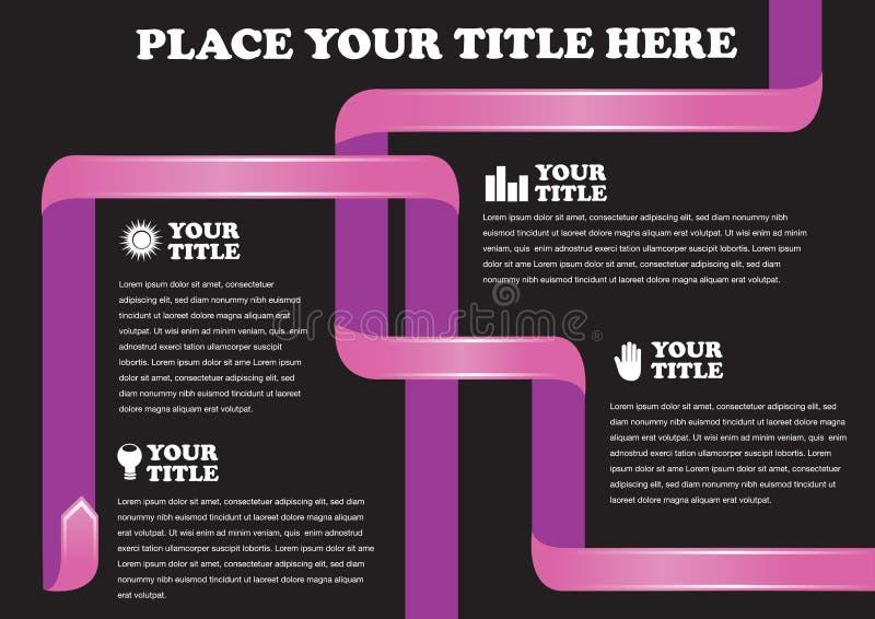 Pink-Band auf schwarzem Hintergrund-Vektor-Design für Seite Layou vektor abbildung