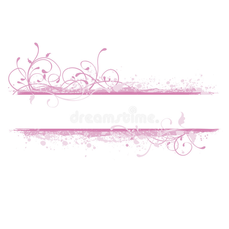 Free Pink Banner Illustration Royalty Free Stock Image - 2635456