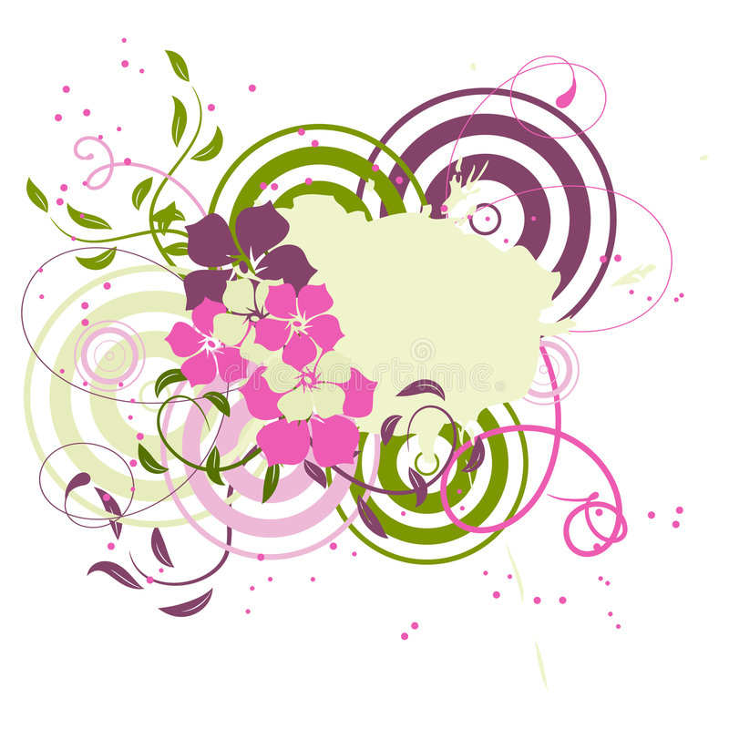 Free Pink Banner With Flowers Royalty Free Stock Photo - 9101475