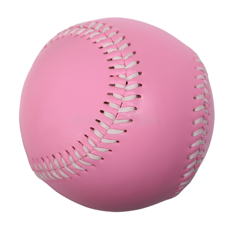 Pink Baseball royalty free stock image