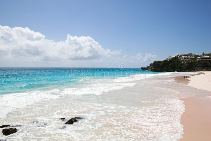 Download Pink beach stock photo. Image of seaboard, sand, barbados - 5357716