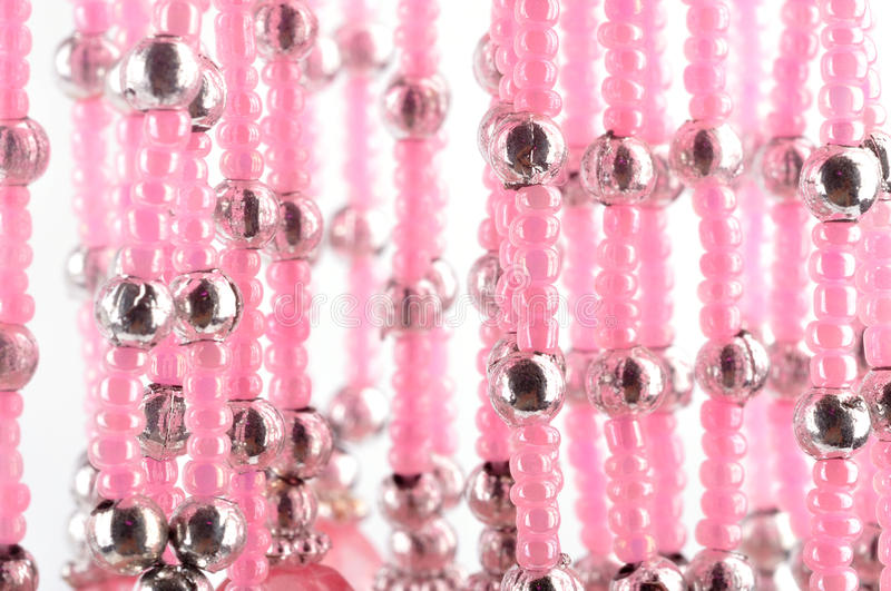 Pink Beads Stock Photography
