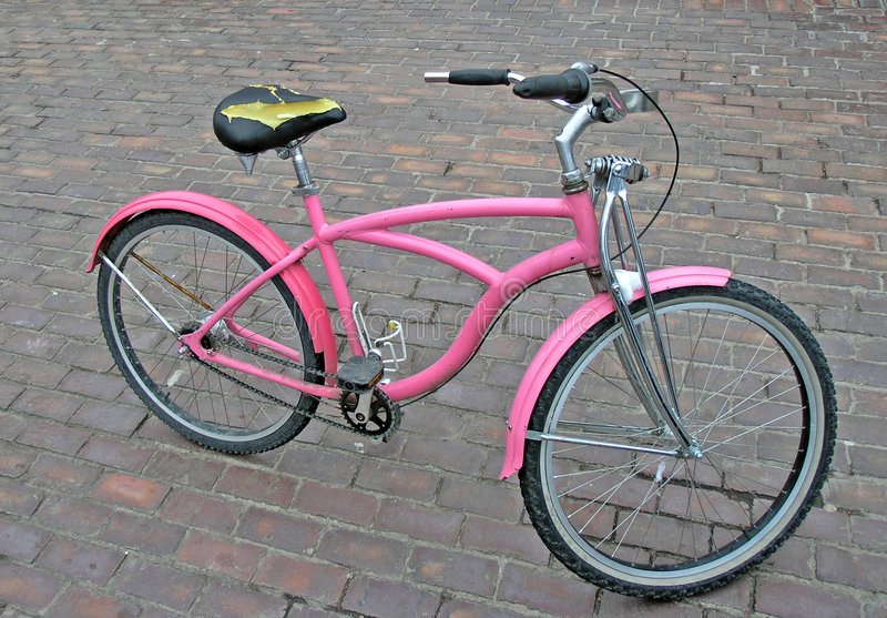 Pink bike. Cool pink bike royalty free stock photography