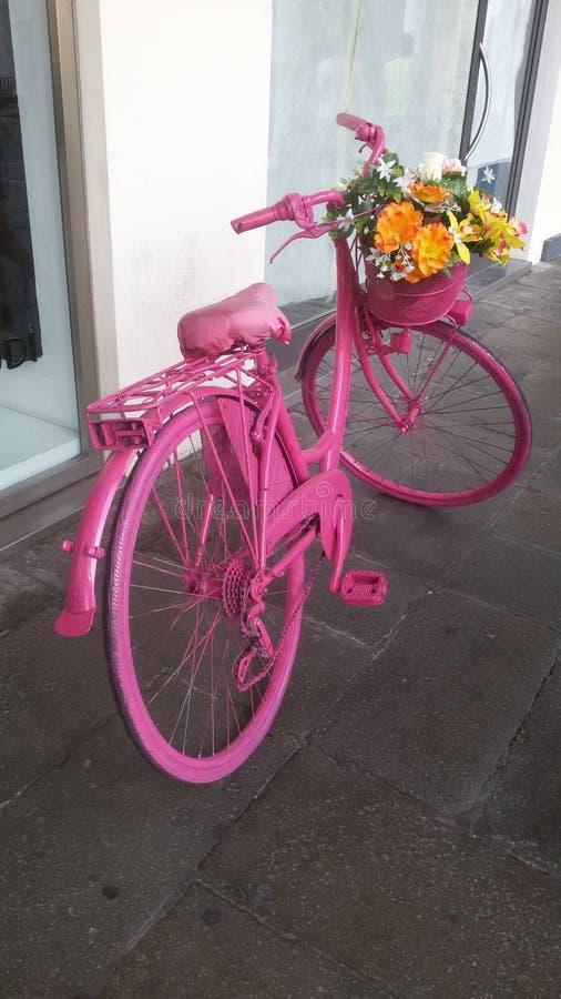 Pink bike royalty free stock images