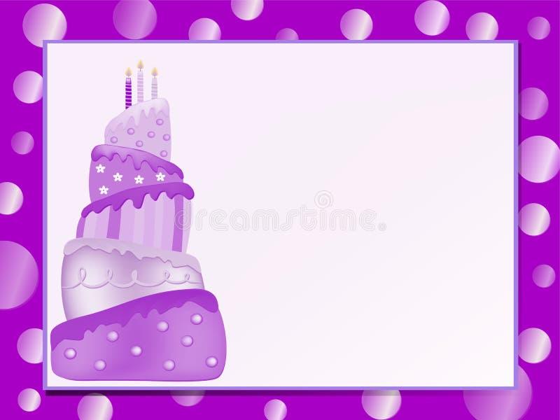 Pink birthday cake royalty free stock image