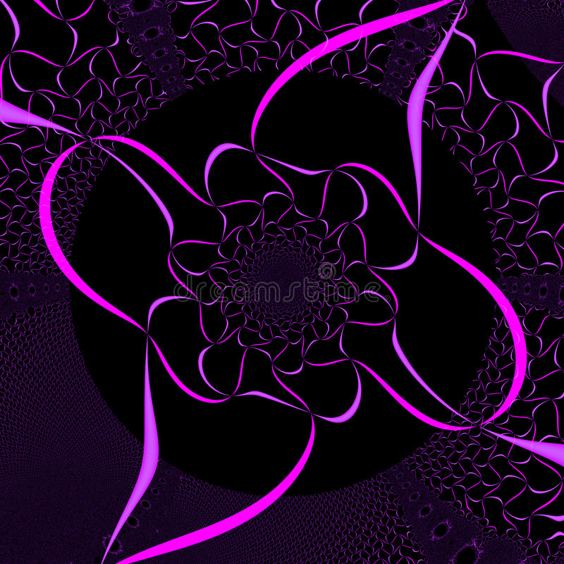 Pink and Black Background stock illustration