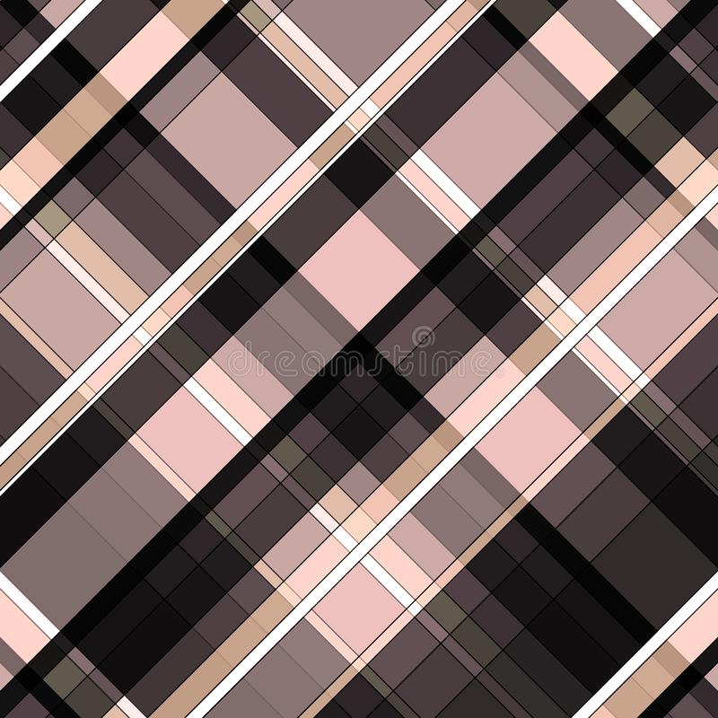 Pink and black checkered background pattern royalty free illustration