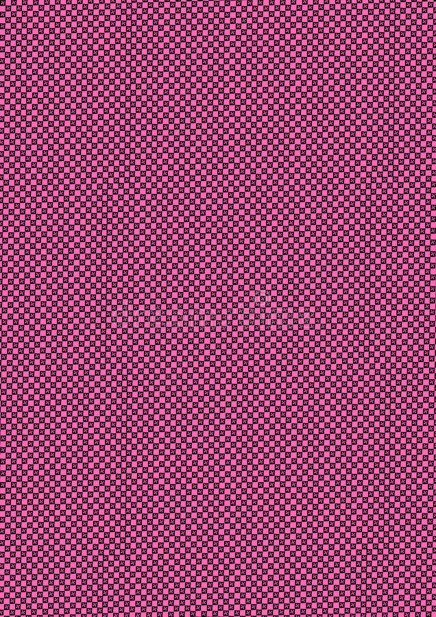 Pink and Black checkered vector illustration