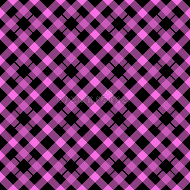 Pink and Black lumberjack plaid seamless pattern, vector illustration eps10 stock illustration