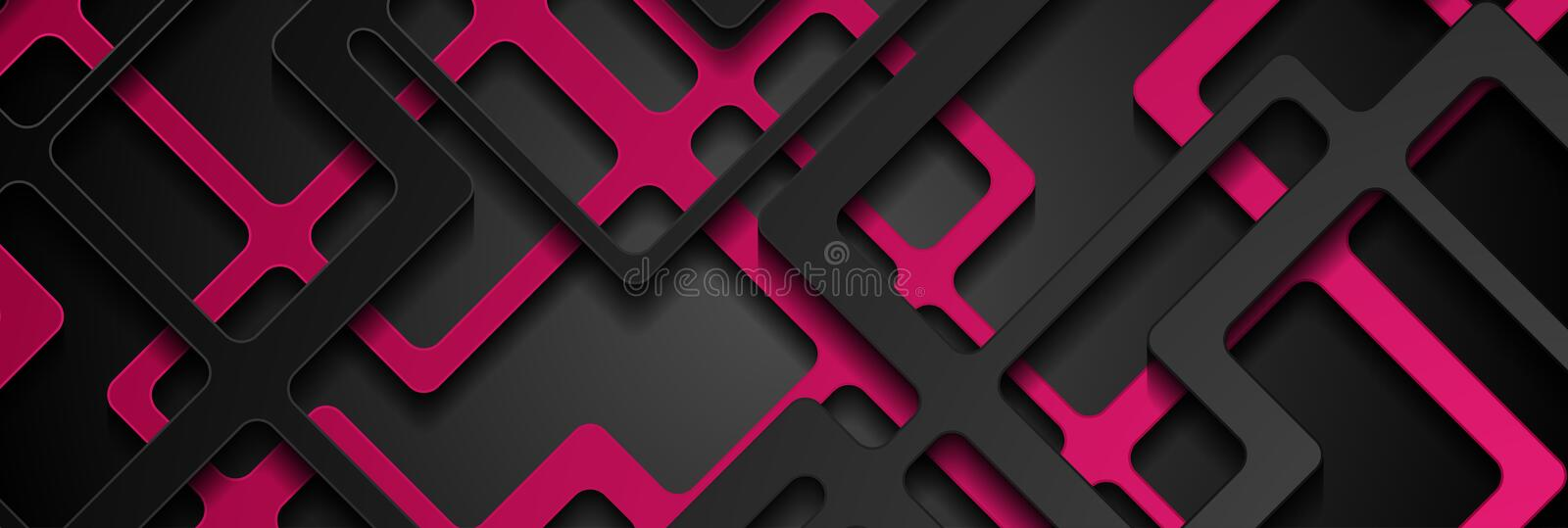 Abstract pink black paper cut stripes corporate background royalty free stock photography