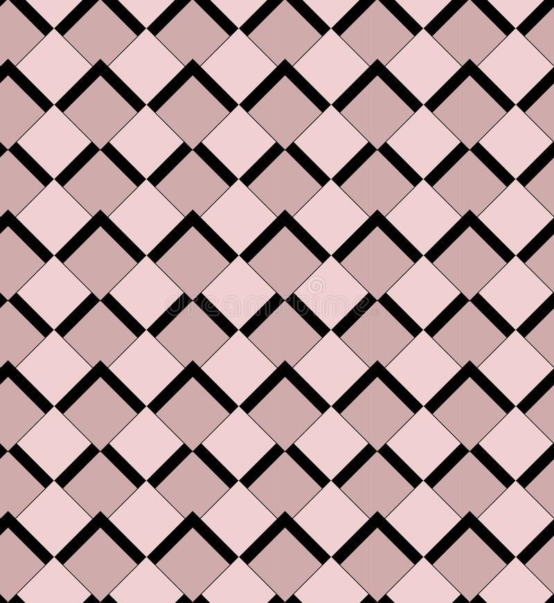 Pink and black squares seamless wallpeper vector pattern vector illustration