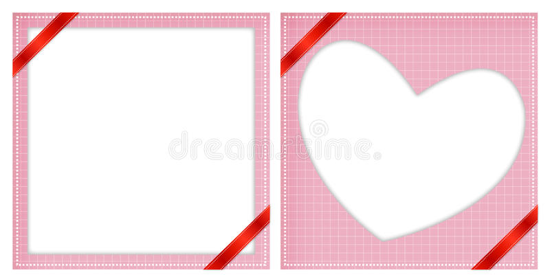 Pink Blank Cards stock photo
