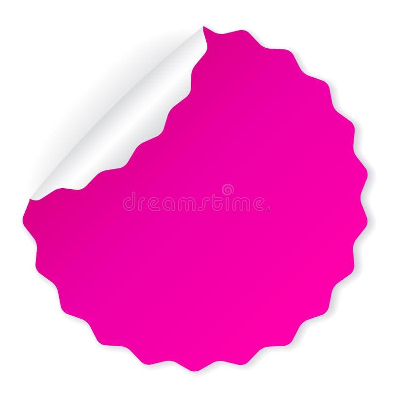 Pink blank vector sticker royalty free illustration