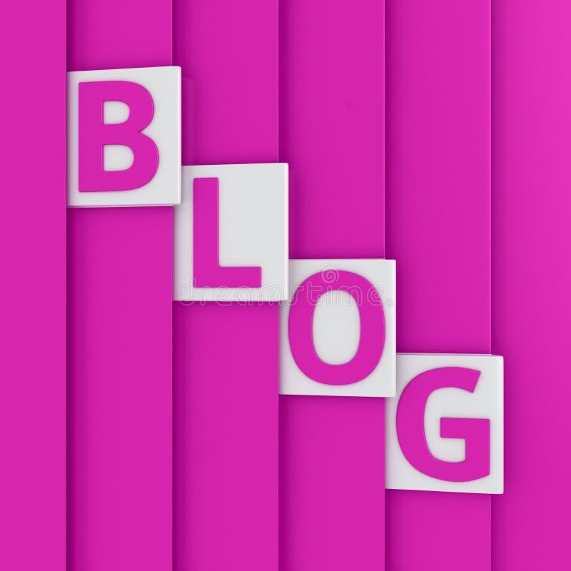Download Pink blog stock illustration. Illustration of shape, origami - 32111303