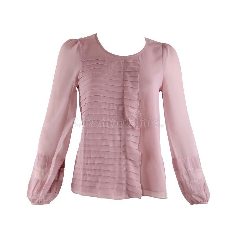 Pink blouse royalty free stock photos