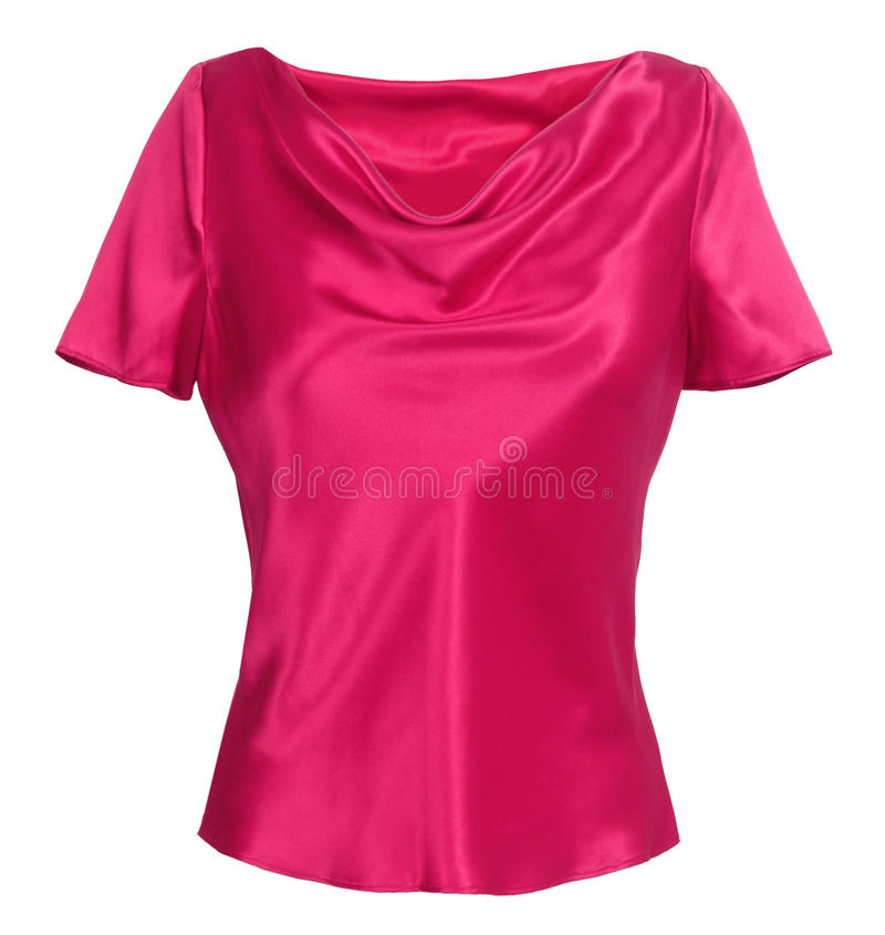 Pink blouse stock photography