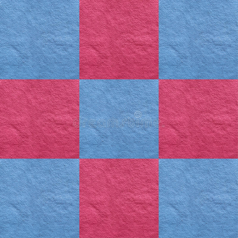 Pink and blue. Isolated pink and blue checkered card royalty free stock photos