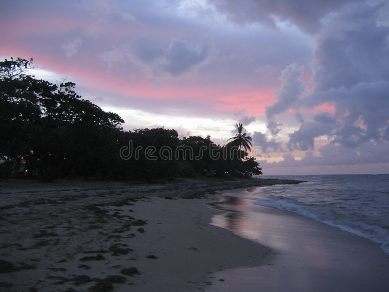 Download Pink And Blue Caribbean Sunset Stock Image - Image: 199541