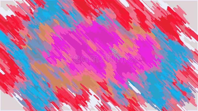 Pink blue orange and red painting abstract vector illustration