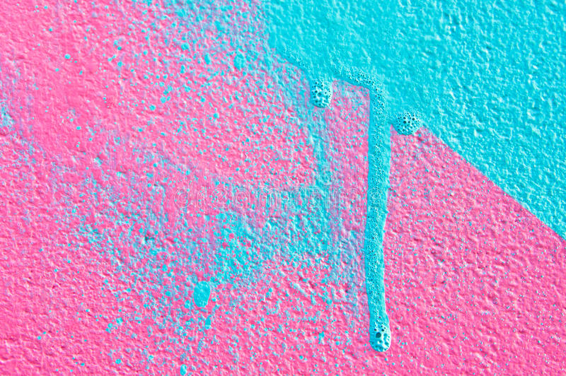 Pink And Blue Paint Stock Photo