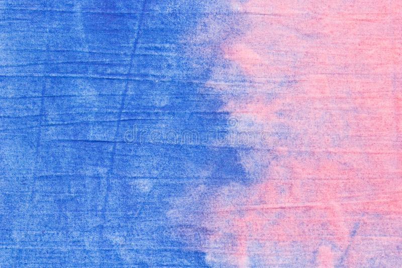 Pink and blue  painted textile background. Pink and blue color painted textile background stock photo