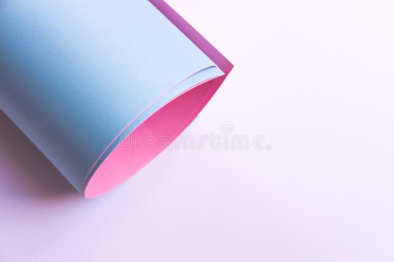 Pink and blue paper roll royalty free stock photos