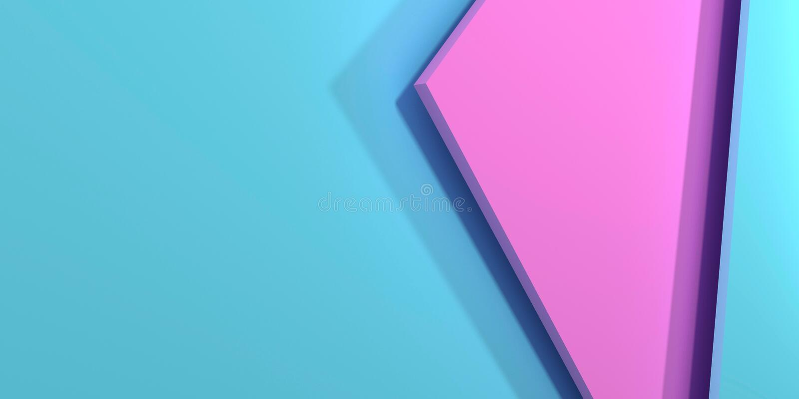 Pink and blue pastel background. royalty free illustration