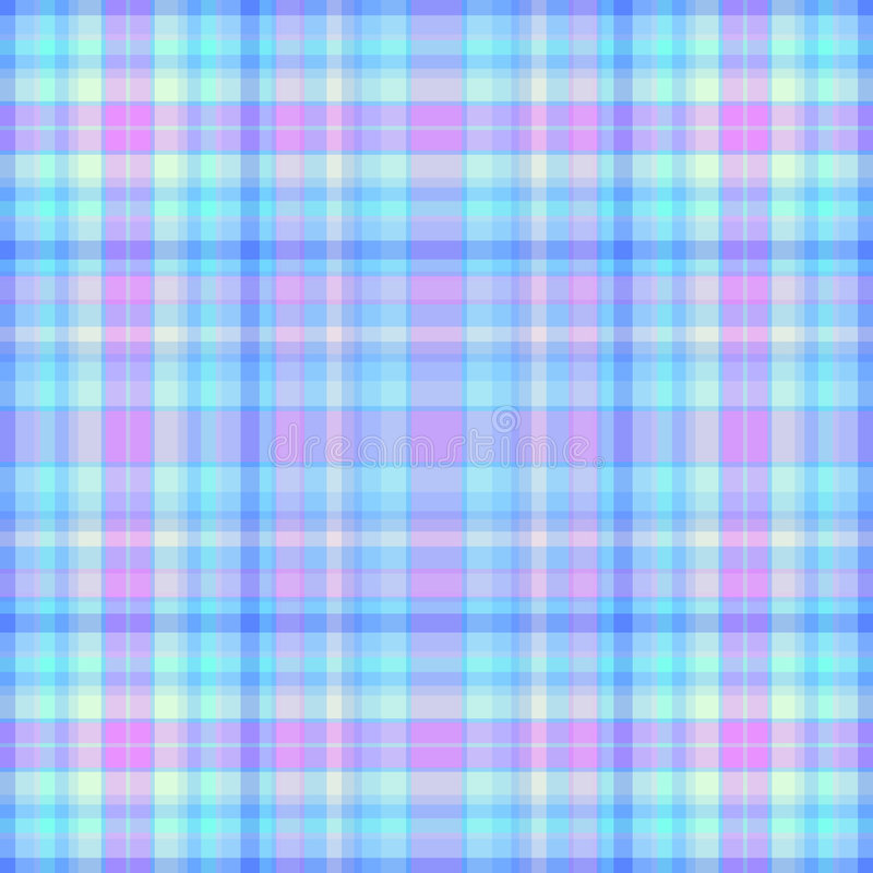Pink and blue plaid royalty free stock photography