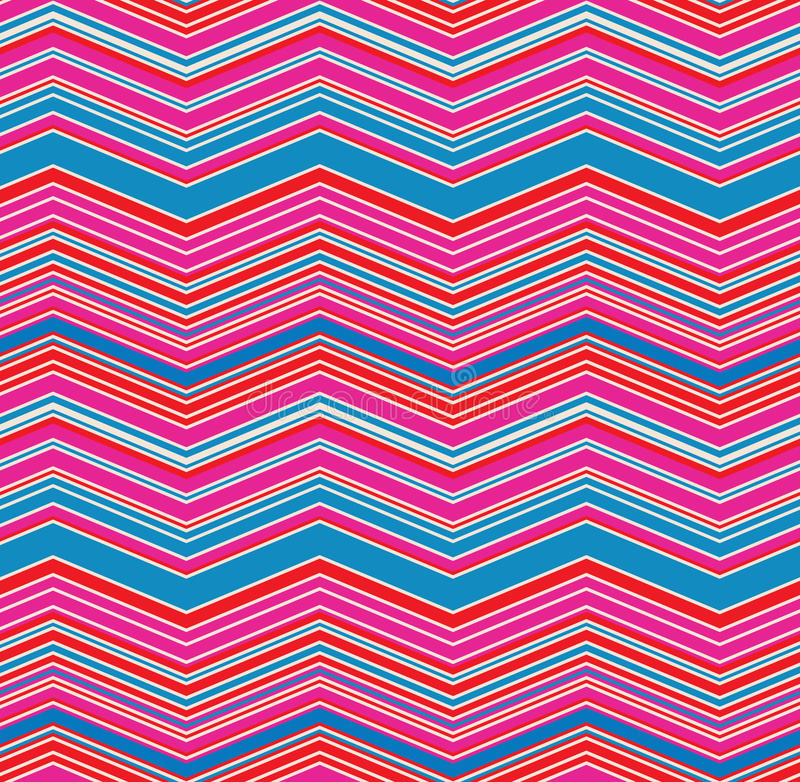 Pink Blue Red Chevron Zig Zag Seamless Pattern royalty free stock photos