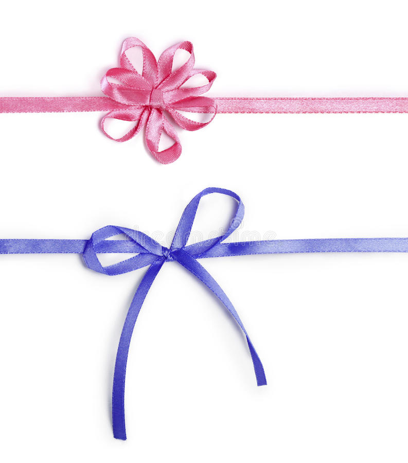 Download Pink and blue ribbons stock image. Image of package, blue - 24383111