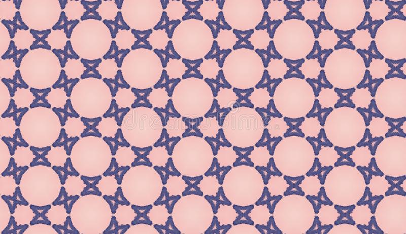 Pink and blue seamless contemporary art. geometric pattern for your textiles, invitation card, scrapbook, banner, postcard. Pink and blue seamless abstract stock illustration