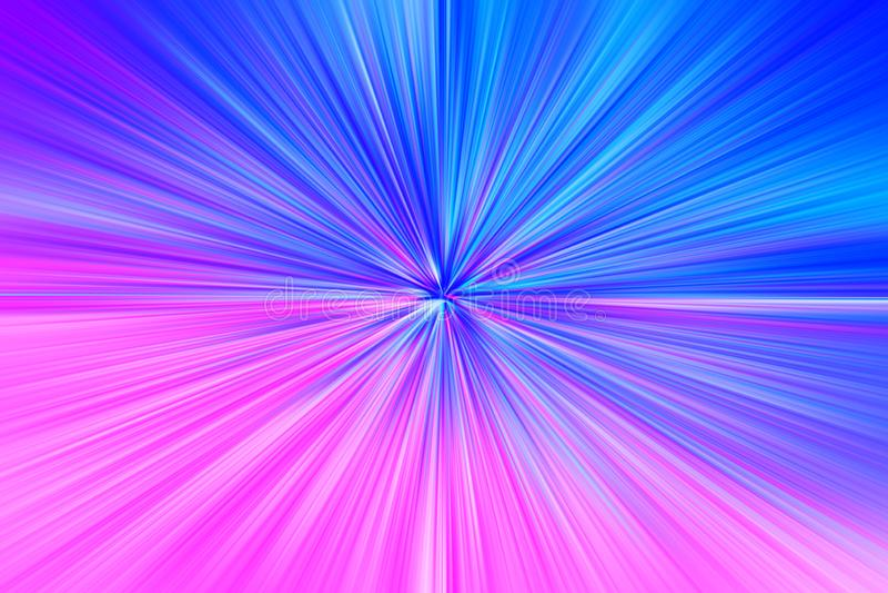 Pink and blue space teleportation blast illustration background vector illustration