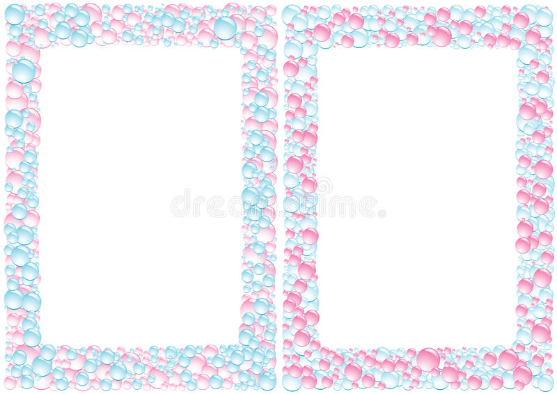 Pink_blue_square_drops_background illustration libre de droits