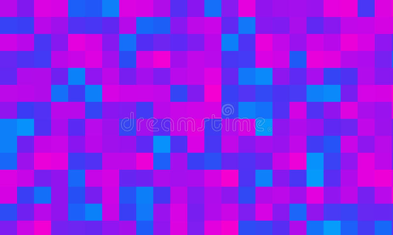 Pink blue Squares pixels geometric wallpaper background royalty free illustration