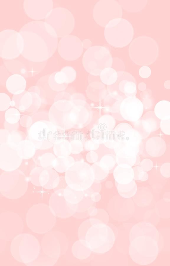 Pink blurred bokeh background,white circles, baby, holiday, fun. Abstract children background background lovely spot blurred bokeh bright Christmas circle color vector illustration