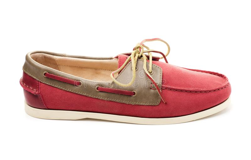Pink boat shoes or top sider royalty free stock image