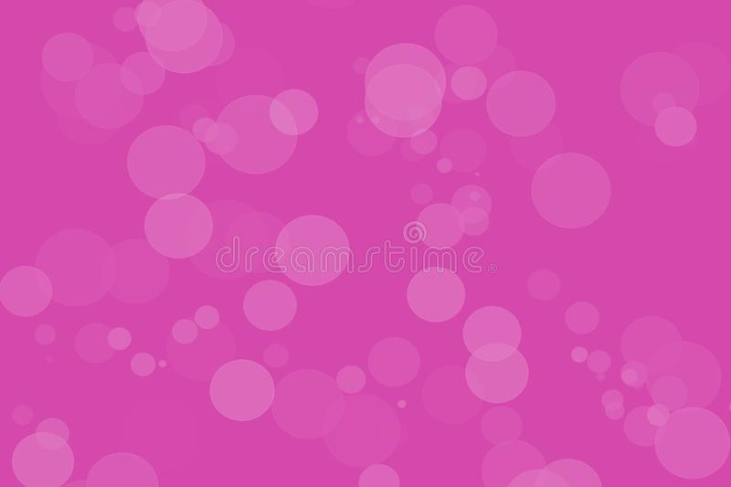 Pink Bokeh Background with Artistic Circles in white royalty free illustration