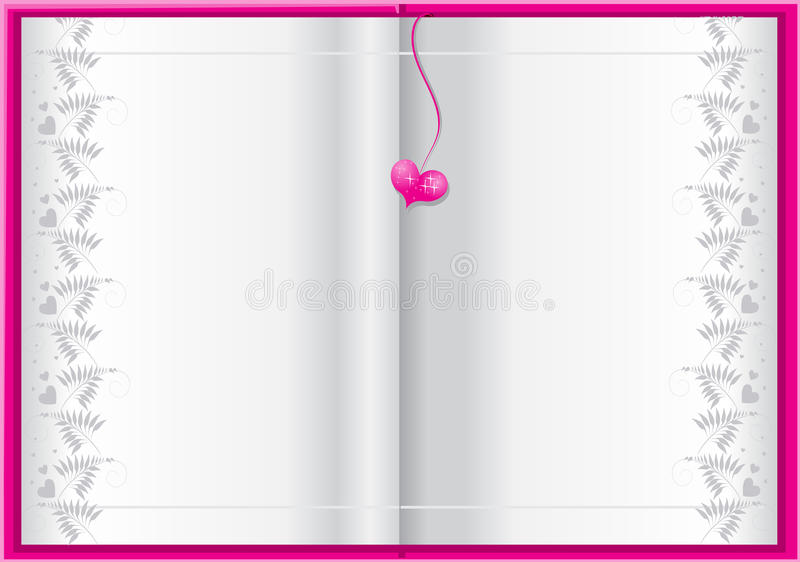 Pink book background for your text stock illustration