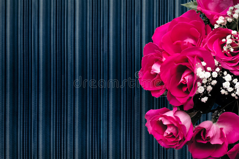 Pink bouquet of roses royalty free stock photography