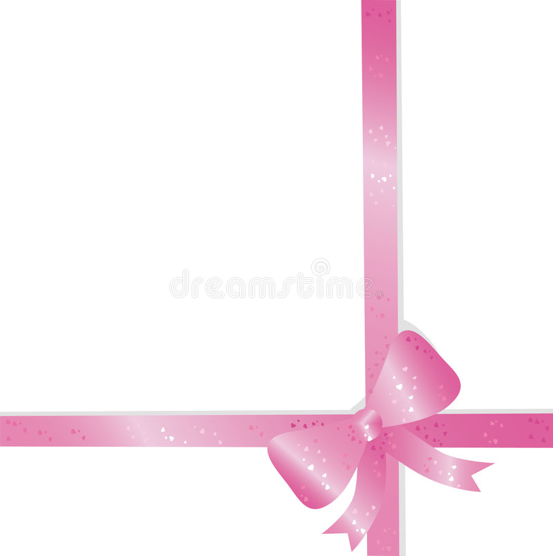 Download Pink bow stock vector. Image of flowery, clip, gradient - 7937942