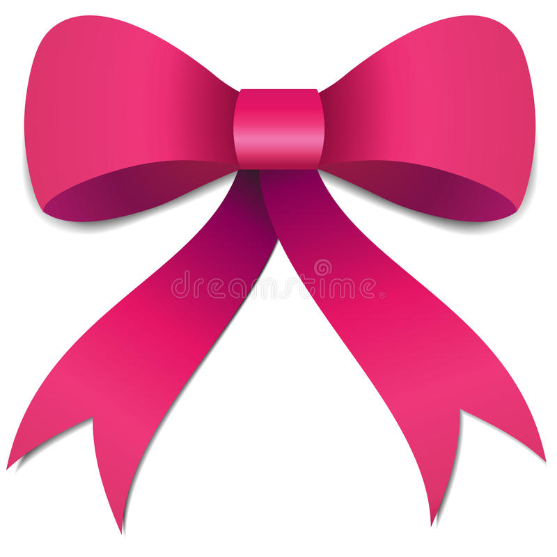 Free Pink Bow Illustration Royalty Free Stock Image - 25496476