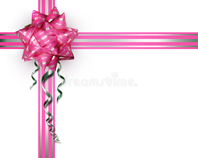 Download Pink Bow On A White Background Royalty Free Stock Photos - Image: 2300948