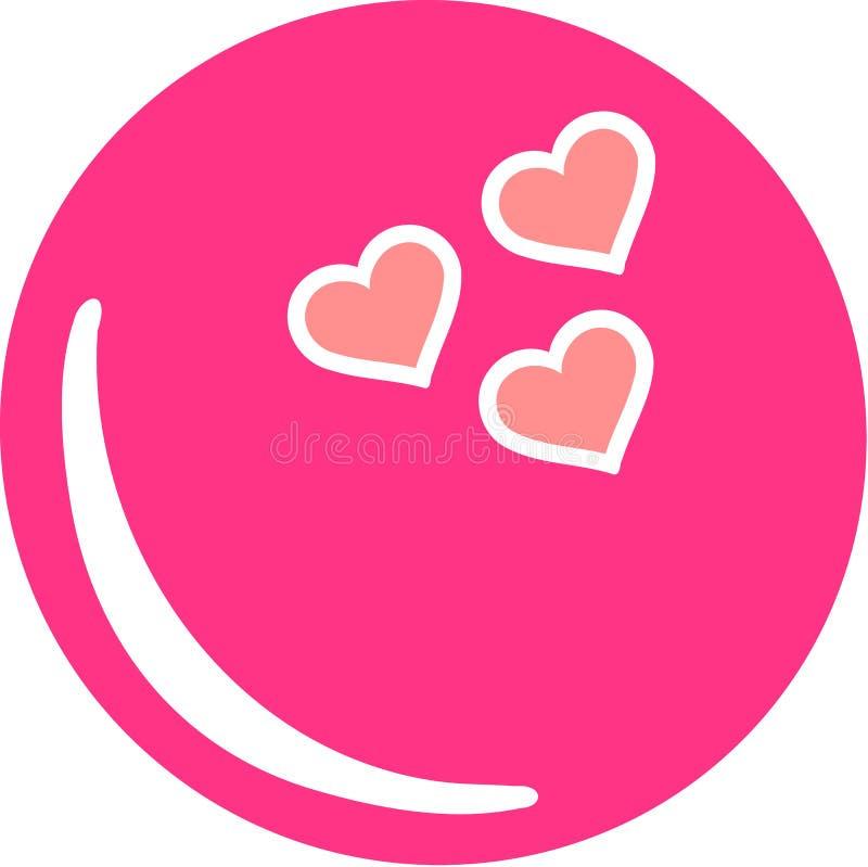 Pink Bowling Ball Hearts. Pink Bowling Ball with Hearts royalty free illustration