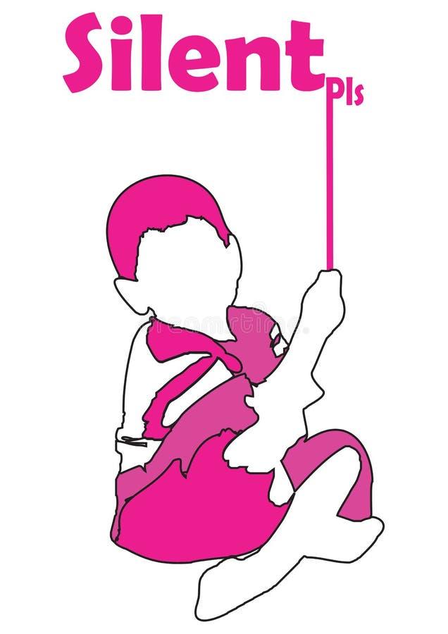 Download Pink boy stock illustration. Illustration of pink, stick - 24528135